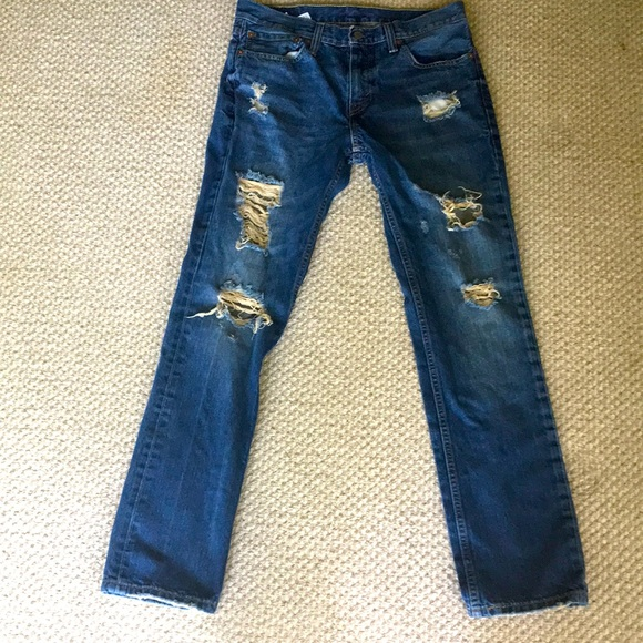 Men's Levi's 511 ripped jeans W32/L32